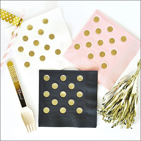 Gold Dot Party Napkins Set of 50 - Jaclyn Peters Designs - 1