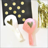 Gold Heart Balloons Set Of 6 - Jaclyn Peters Designs - 4