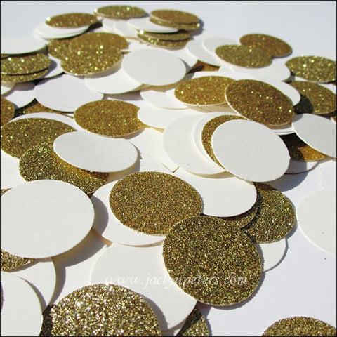 Ivory And Gold Glitter Confetti - Jaclyn Peters Designs - 1