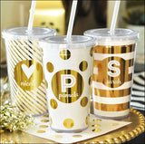 Personalized Metallic Foil Tumblers - Jaclyn Peters Designs - 1