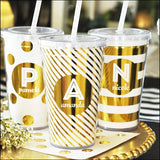 Personalized Metallic Foil Tumblers - Jaclyn Peters Designs - 2