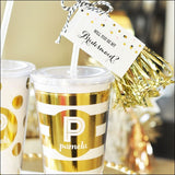 Personalized Metallic Foil Tumblers - Jaclyn Peters Designs - 3