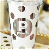 Personalized Metallic Foil Tumblers - Jaclyn Peters Designs - 4