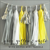 Silver & Yellow Tassel Garland Kit - Jaclyn Peters Designs - 1