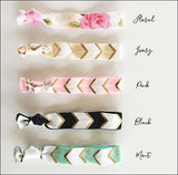 Hair Tie Party Favors With Gold Gift Cards Set Of 12