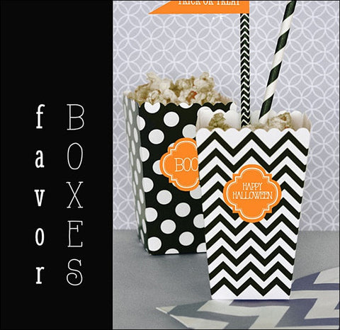 Halloween Party Popcorn Boxes - Jaclyn Peters Designs - 1