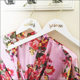 Gold Foil Personalized Bridesmaids Wooden Hangers Set Of 3