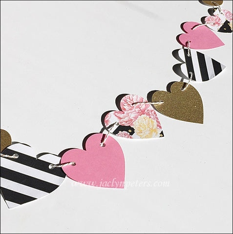 Hearts & Peonies Party Banner