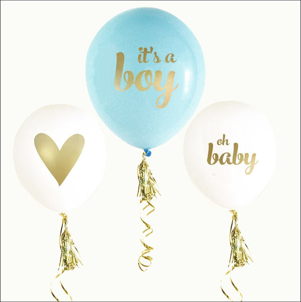 It's A Boy Baby Shower Balloons Set Of 6 - Jaclyn Peters Designs