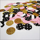 Pink, Gold, Stripes & Dots Confetti - Jaclyn Peters Designs - 2