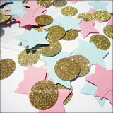 Gender Reveal Party Star Confetti - Jaclyn Peters Designs - 2