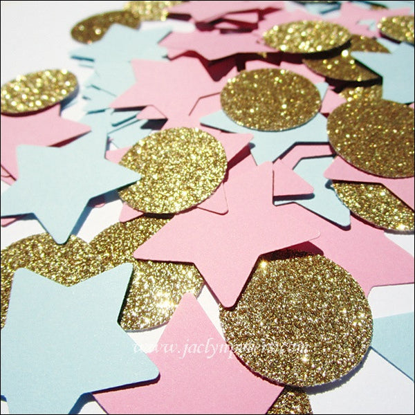 Gender Reveal Party Star Confetti - Jaclyn Peters Designs - 1