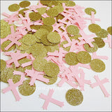 Pink & Gold Baptism Party Confetti - Jaclyn Peters Designs - 1