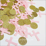 Pink & Gold Baptism Party Confetti - Jaclyn Peters Designs - 2