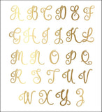 Gold Foil Monogram Initial Can Coolers Set Of 6