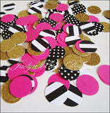Bachelorette Party Confetti In Hot Pink, Black, White And Gold Glitter - Jaclyn Peters Designs - 1