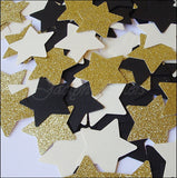 Black, Gold & Ivory Large Stars Confetti - Jaclyn Peters Designs - 2