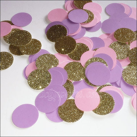 Lavender, Baby Pink And Gold Glitter Party Confetti