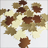 Fall Table Decorations Gold, Copper And Ivory Maple Leaves
