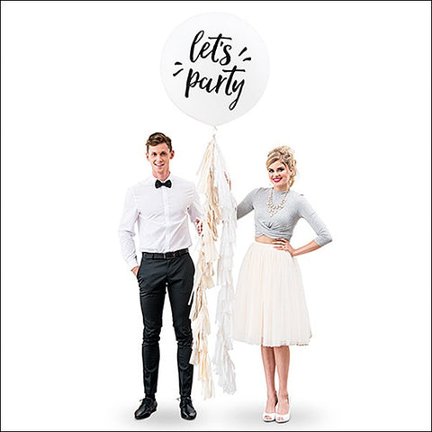 Let's Party Jumbo 36 Inch Balloon With Tassel Garland