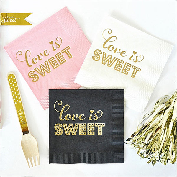 Love Is Sweet Napkins Set of 50 - Jaclyn Peters Designs - 1