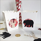 Lumberjack Party Favor Popcorn Boxes Set Of 12