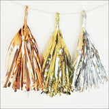 Blush Pink, Ivory And Gold Party Tassel Garland Kit - Jaclyn Peters Designs - 2