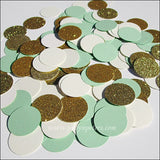 Mint Green, Ivory & Gold Confetti - Jaclyn Peters Designs - 2