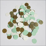 Mint Green, Ivory & Gold Confetti - Jaclyn Peters Designs - 3