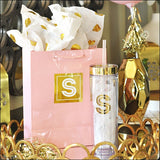 Gold Initial Gift Bags Set Of 12 - Jaclyn Peters Designs - 1