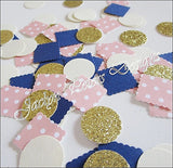 Pink, Navy & Gold Party Confetti - Jaclyn Peters Designs - 1