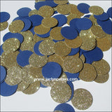 Navy Blue & Gold Party Confetti - Jaclyn Peters Designs - 2