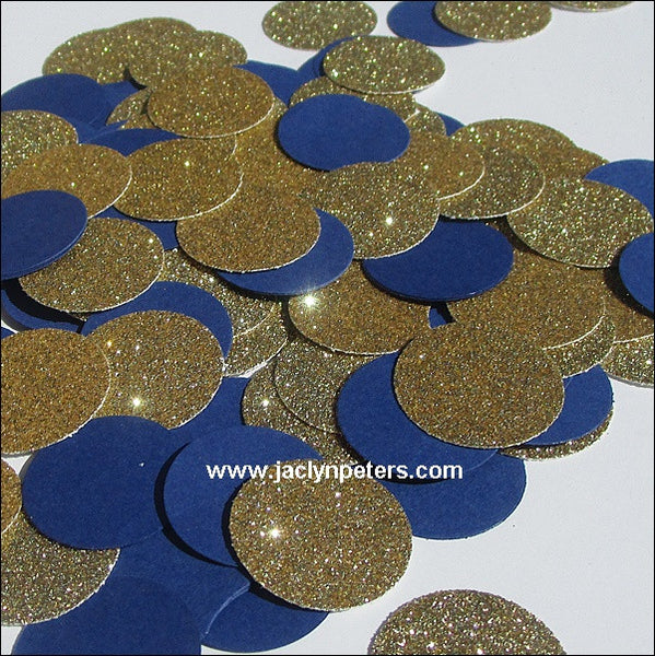 Navy Blue & Gold Party Confetti - Jaclyn Peters Designs - 1