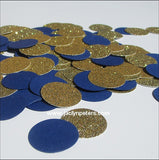 Navy Blue & Gold Party Confetti - Jaclyn Peters Designs - 3