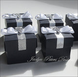 Navy Blue Baptism Or Communion Favor Boxes - Jaclyn Peters Designs - 3