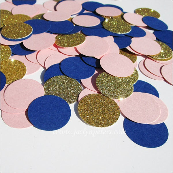 Navy, Pink & Gold Party Confetti - Jaclyn Peters Designs - 1
