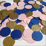 Navy, Pink & Gold Party Confetti - Jaclyn Peters Designs - 3