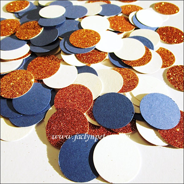 Navy, Copper & Ivory Table Confetti - Jaclyn Peters Designs - 1