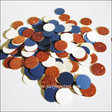 Navy, Copper & Ivory Table Confetti - Jaclyn Peters Designs - 2