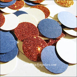 Navy, Copper & Ivory Table Confetti - Jaclyn Peters Designs - 3