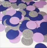 Navy Blue, Lavender And Silver Glitter Party Confetti