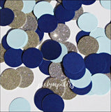 Boys Navy, Baby Blue And Silver Glitter Party Confetti