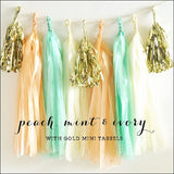 Peach, Mint & Gold Party Tassel Kit - Jaclyn Peters Designs - 1