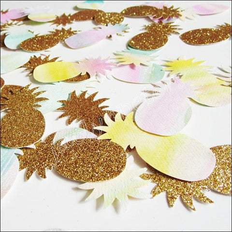 Tropical Pineapple Party Confetti - Jaclyn Peters Designs - 1