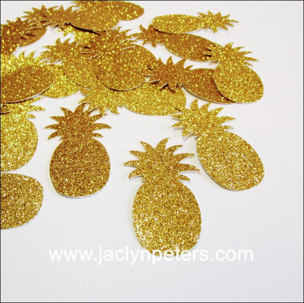 Gold Glitter Pineapple Party Confetti – Jaclyn Peters Party