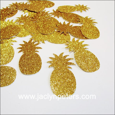 Gold Glitter Pineapple Party Confetti - Jaclyn Peters Designs - 1