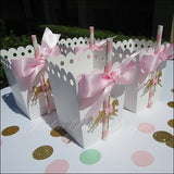 Pink And Gold Carousel Party Favor Boxes - Jaclyn Peters Designs - 4