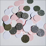 Girls Pink, White And Silver Glitter Party Confetti