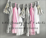 Pink, Silver & White Party Tassel Kit