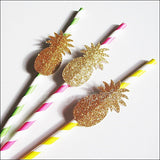 Gold Glitter Pineapple Straws - Jaclyn Peters Designs - 2